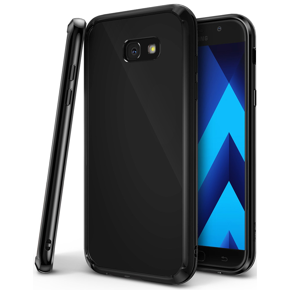 Samsung Galaxy A5 2017 Case, Ringke [FUSION] Tough PC Back TPU Bumper Drop Protection Cover - Shadow Black