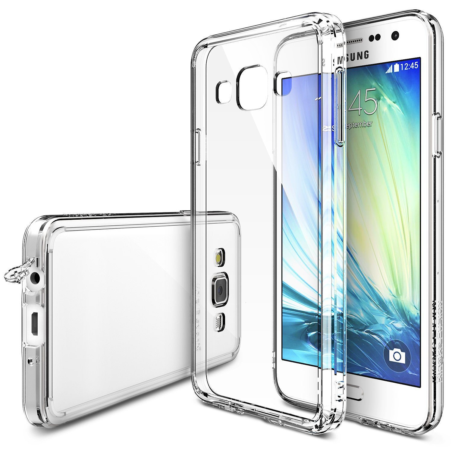 Samsung Galaxy A3 Fusion Bumper Case by Ringke [Clear] Featuring Shock Absorption TPU Bumper with Clear Hard Polycarbonate Back & Screen Protector