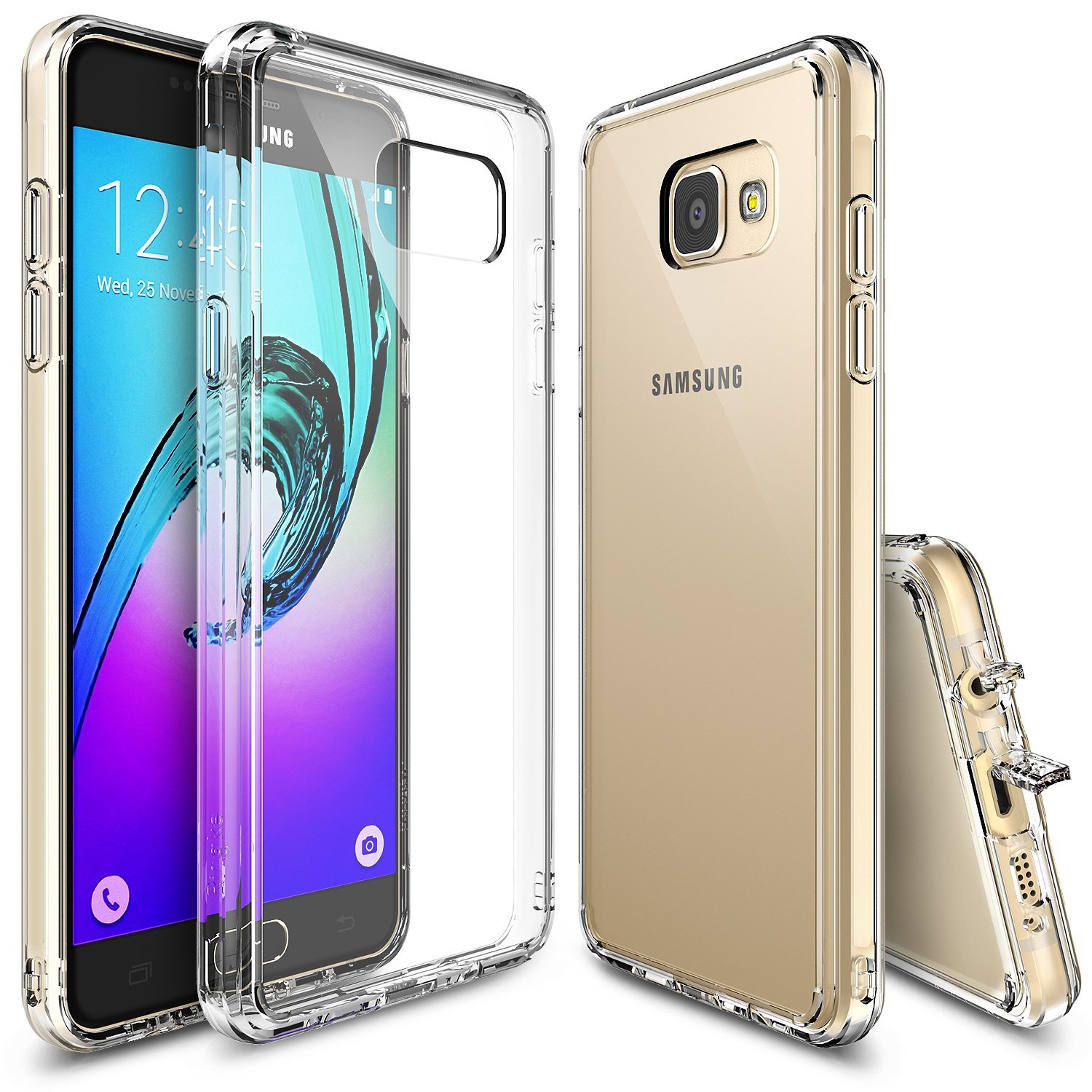 Samsung Galaxy A7 Case, Ringke [Clear] FUSION Series Slim & Flexible Anti-shock Crystal Silicone Protective TPU Gel Skin Case Cover