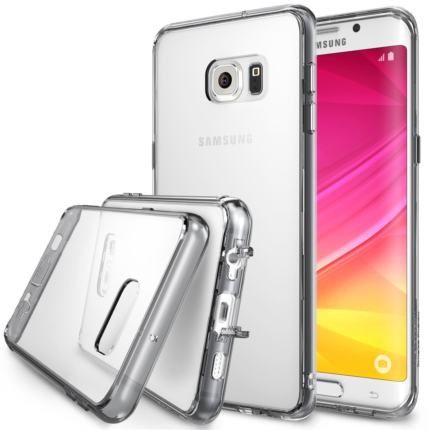 Samsung Galaxy S6 Edge Plus, Ringke [Smoke Black] FUSION Series Shock Absorption Bumper Premium Hybrid Hard Case