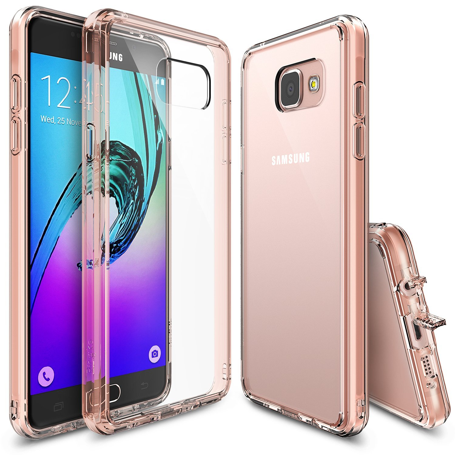 Samsung Galaxy A3 2016 Case, Ringke [Rose Gold Series] FUSION Series Shock Absorption TPU Bumper Case