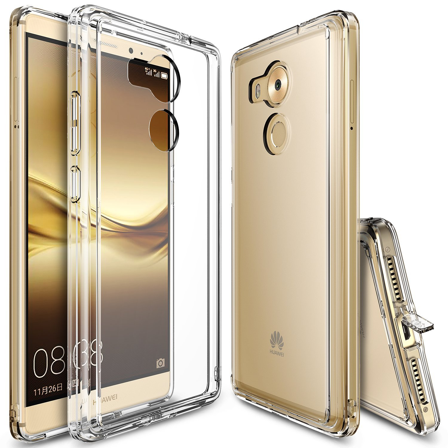 Huawei Mate 8 Case, Ringke [Clear] FUSION Series Absorb Shock TPU Bumper Clear Case