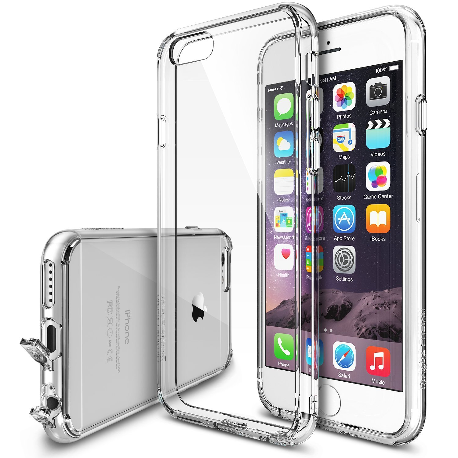 Apple iPhone 6 PLUS/6S PLUS (5.5 inch) Bumper Case by Ringke [Clear] Featuring Shock Absorption TPU Bumper with Crystal Clear Hard Polycarbonate Back & Screen Protector
