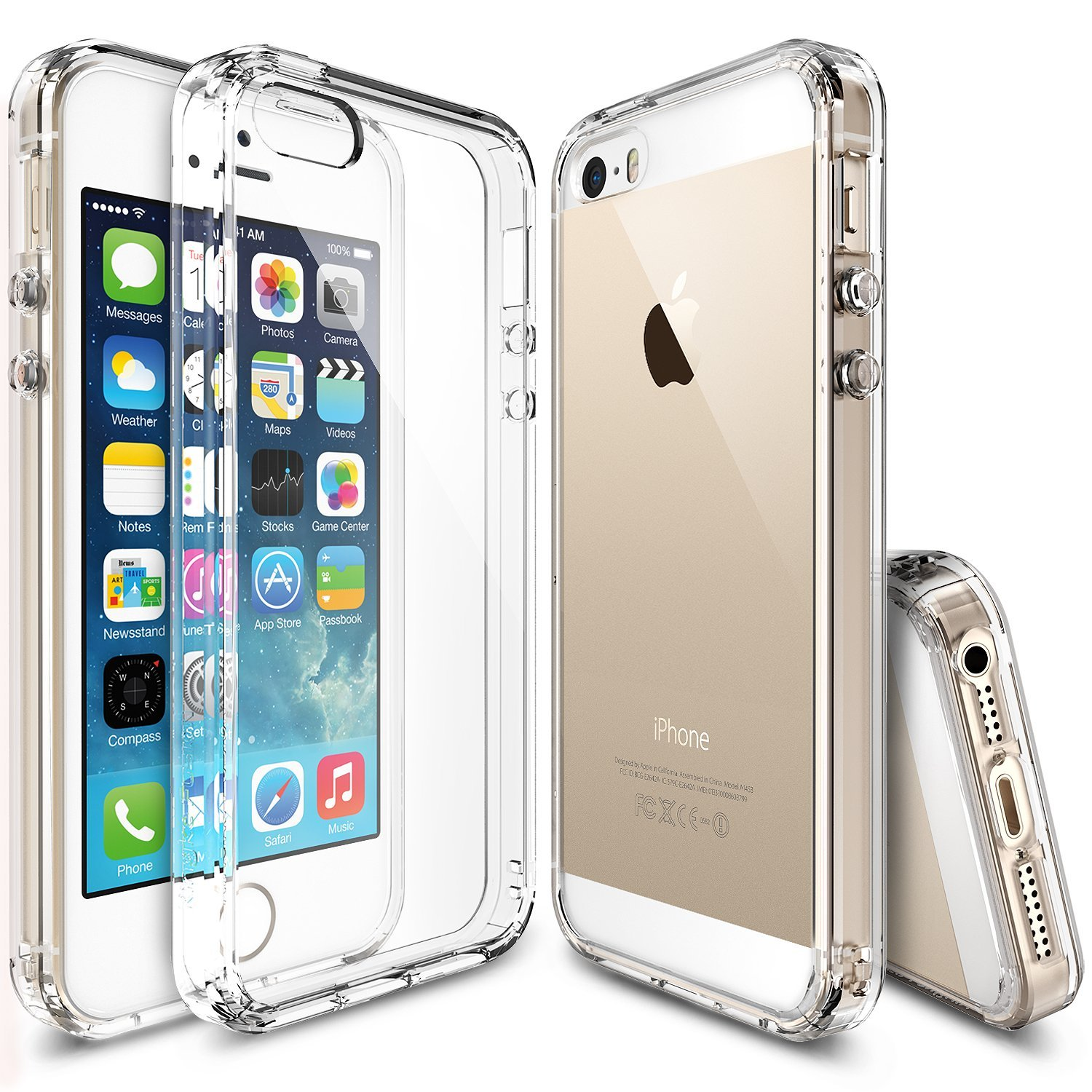 Apple iPhone SE / 5 / 5S Case, Ringke [Clear] FUSION Series Crystal Clear PC Back TPU Bumper Case