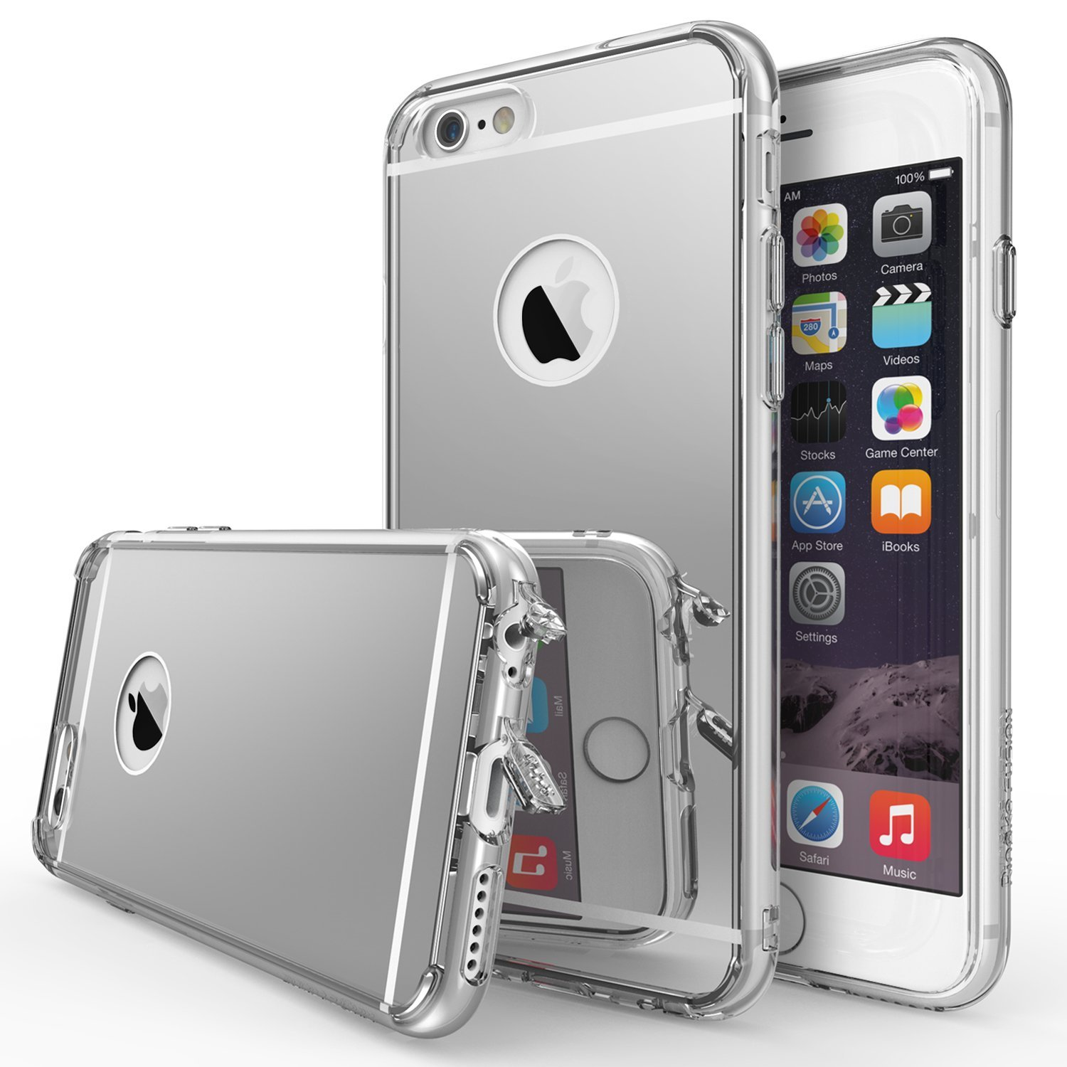 Apple iPhone 6 Case, Ringke FUSION MIRROR [Clear] [Dust Cap/Free Film] Shock Absorption Case
