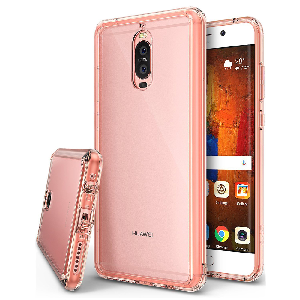 Huawei Mate 9 Pro Case, Ringke [FUSION] Crystal Clear PC Back TPU Bumper Drop Protection Cover - Rose Gold