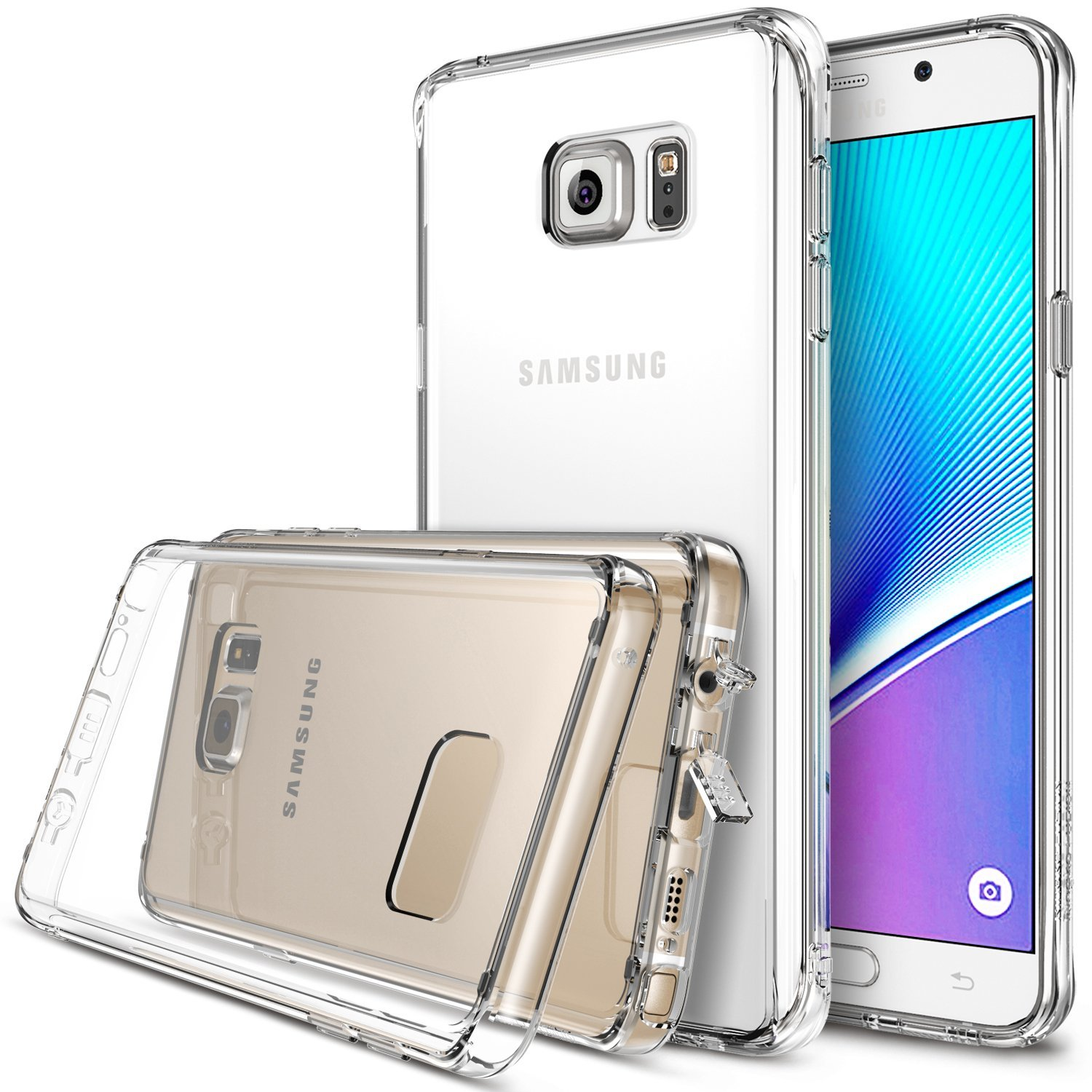 Samsung Galaxy Note 5 Case, Ringke [Clear] FUSION Series Full Top/ Bottom Coverage Dual Coated Hard Case