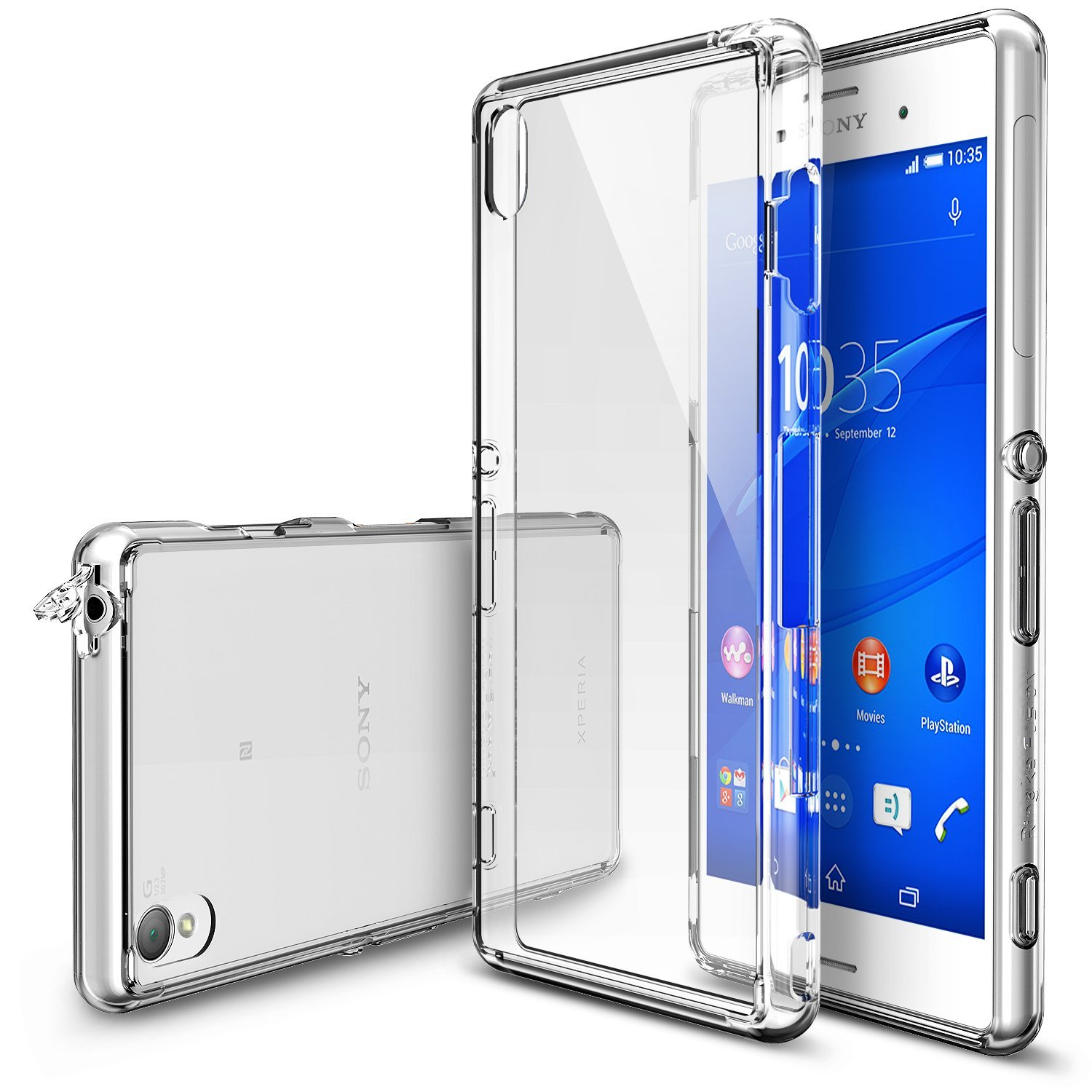 Sony Xperia Z3+ Case - Ringke FUSION Series [Clear] Shock Absorption Bumper Premium Hybrid Hard Case
