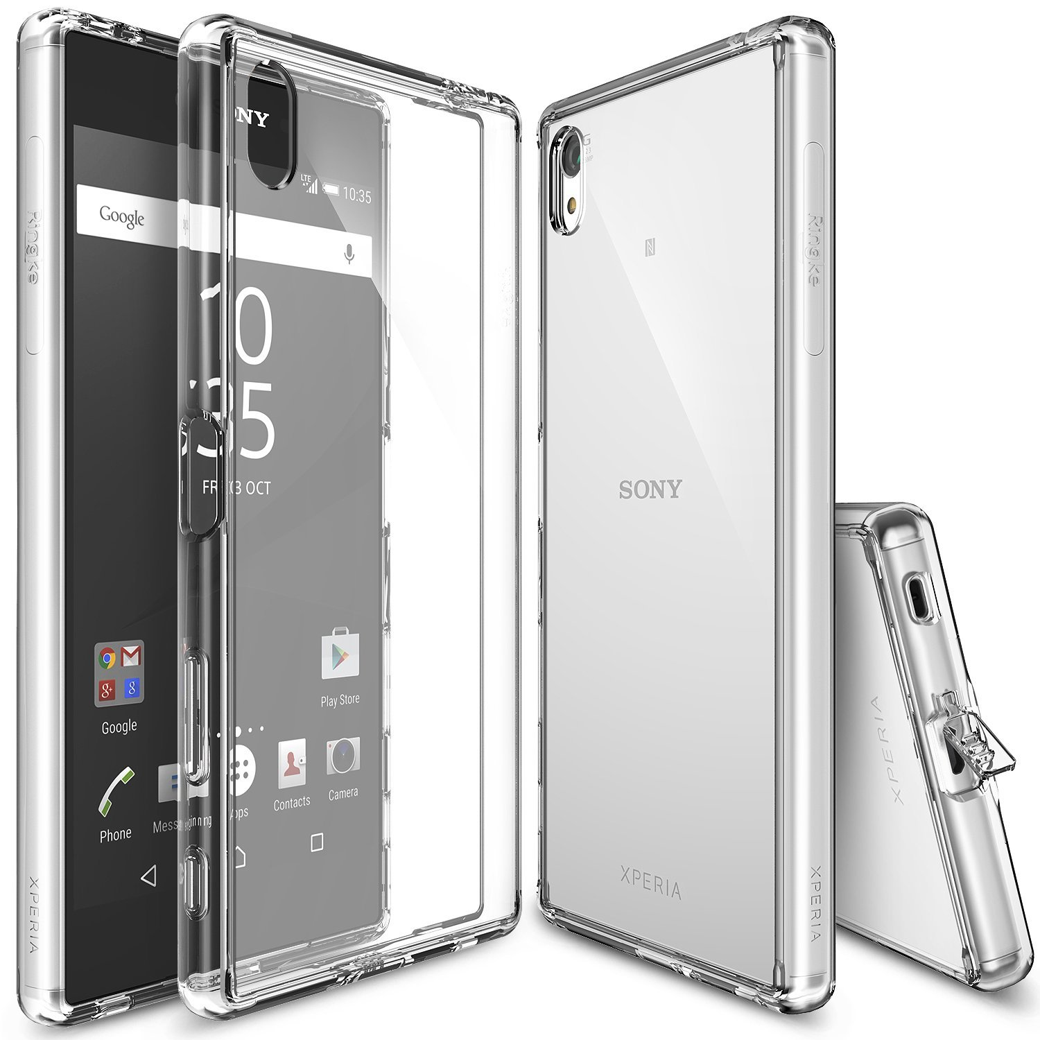 Sony Xperia Z5 Premium Case, Ringke [FUSION][Clear] Absorb Shock TPU Bumper Clear Hard Case