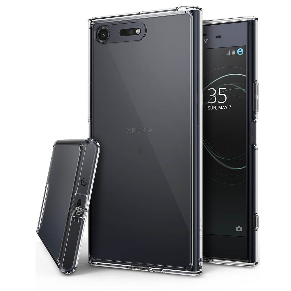 Sony Xperia XZ Premium Case, Ringke [FUSION] Crystal Clear PC Back TPU Bumper Drop Protection Cover - Clear