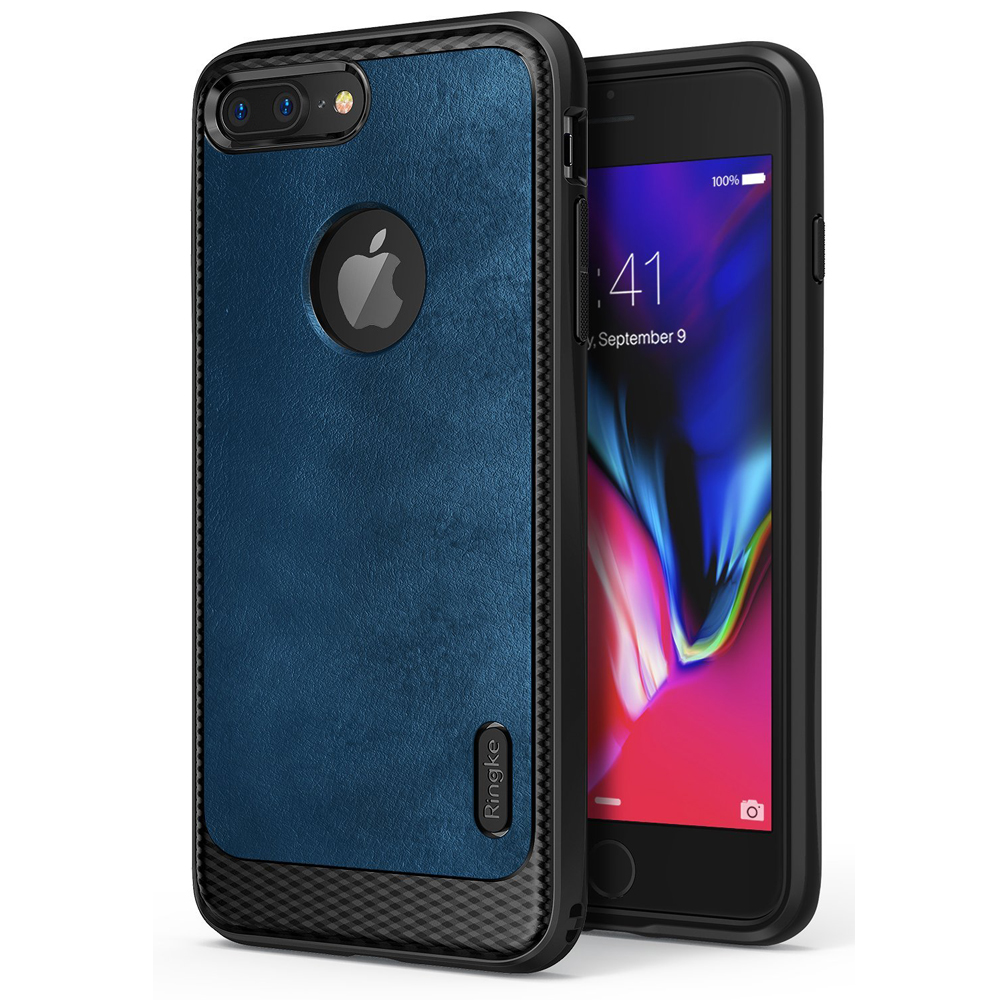 [Ringke] Apple iPhone 8 / 7 / 6S / 6 Case, [FLEX S] Elite Modern Leather-Style Shockproof Protection Cover [Deep Blue]