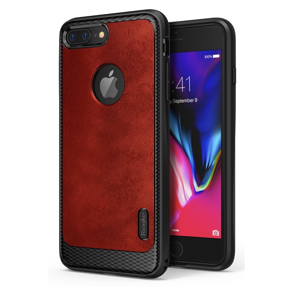[Ringke] Apple iPhone 8 / 7 / 6S / 6 Case, [FLEX S] Elite Modern Leather-Style Shockproof Protection Cover [Blazed Red]