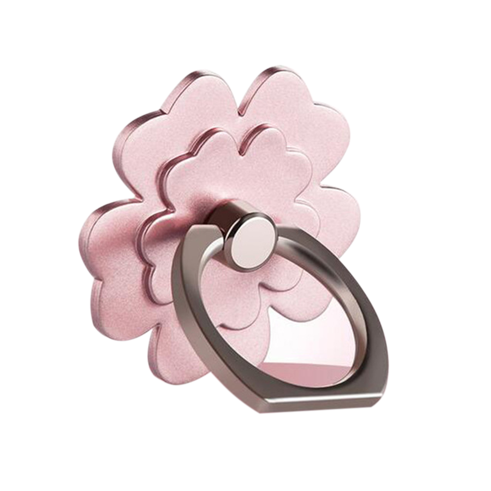 Phone Ring Stand Holder, [Rose Gold Flower] 360 Degree Rotation Phone Grip Kickstand For Universal Smartphones Cell Phone