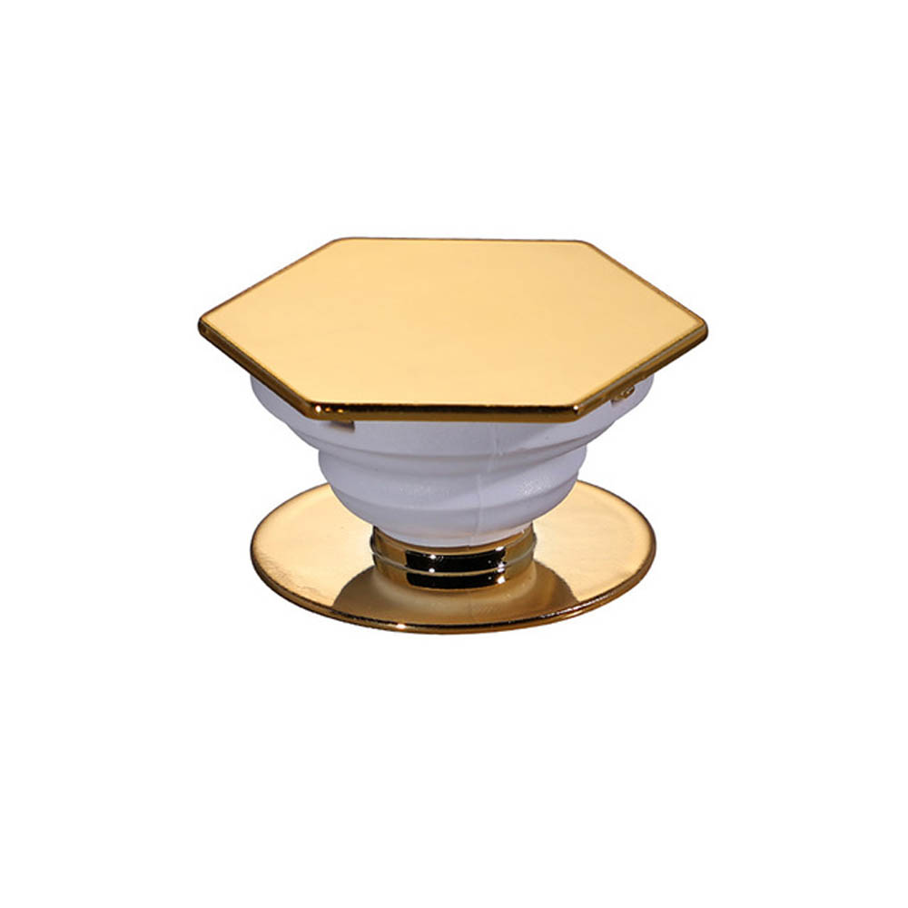 Redshield Hexagonal Pop Up Phone Ring Stand Holder. Expanding Stand & Grip Mount for Smart Phone. [Gold]