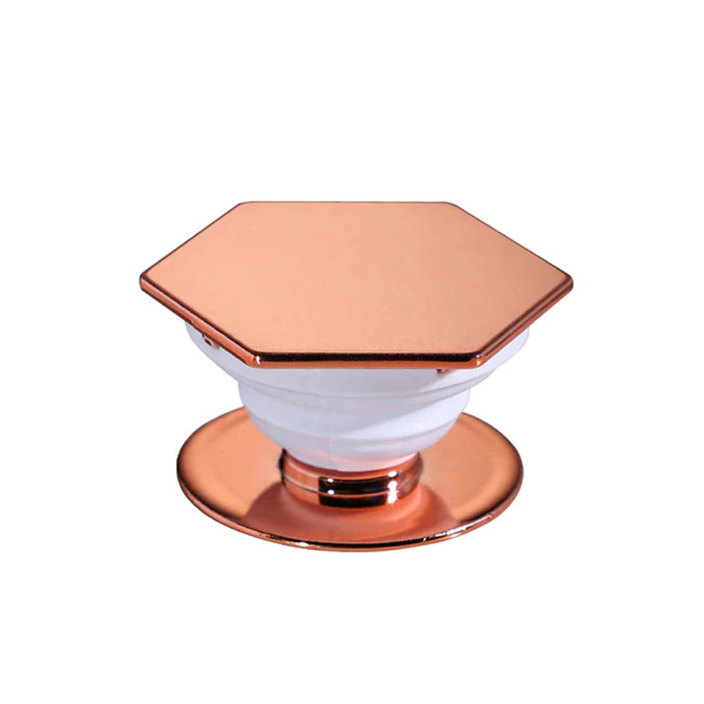 Redshield Hexagonal Pop Up Phone Ring Stand Holder. Expanding Stand & Grip Mount for Smart Phone. [Rose Gold]