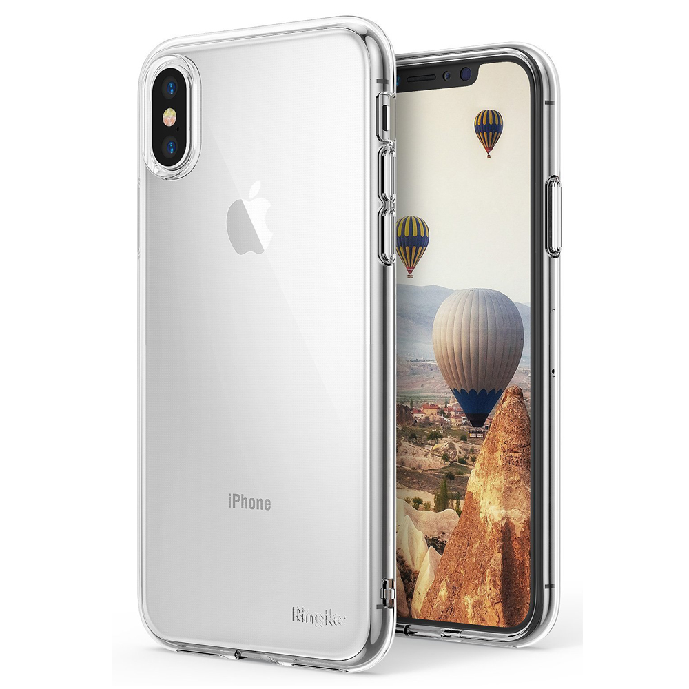 Apple iPhone X Case, Ringke [AIR] Flexible Transparent Lightweight & Soft TPU Protective Cover - Clear