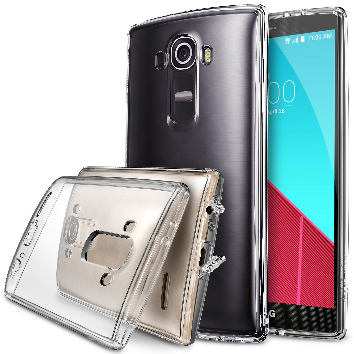 LG G4 Case, Ringke [Clear] FUSION Series Back Bumper Case w/ Free Screen Protector