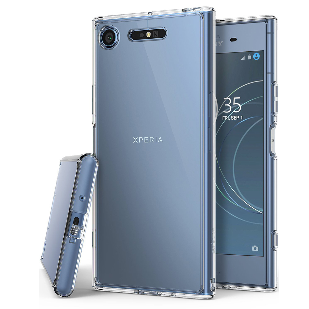 Sony Xperia XZ1 Case, Ringke [FUSION] Crystal Clear PC Back TPU Bumper Drop Protection Cover - Clear
