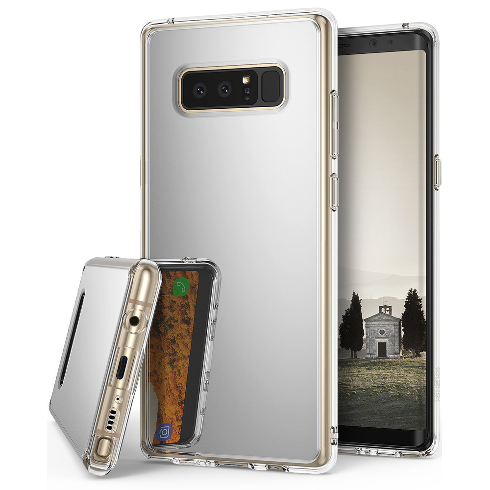 Samsung Galaxy Note 8 Case, Ringke [MIRROR] Bright Reflection Radiant Luxury Mirror Protection Cover - Silver