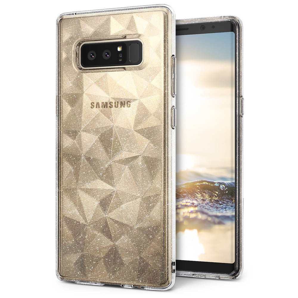 Samsung Galaxy Note 8 Case, Ringke [AIR PRISM GLITTER] TPU Flexible Sparkle Slim 3D Design Cover - Glitter Clear