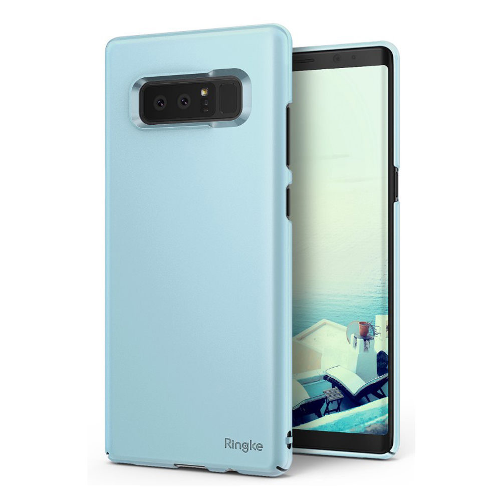 Samsung Galaxy Note 8 Case, Ringke [SLIM] Lightweight Thin Hard PC Protective Cover - Sky Blue