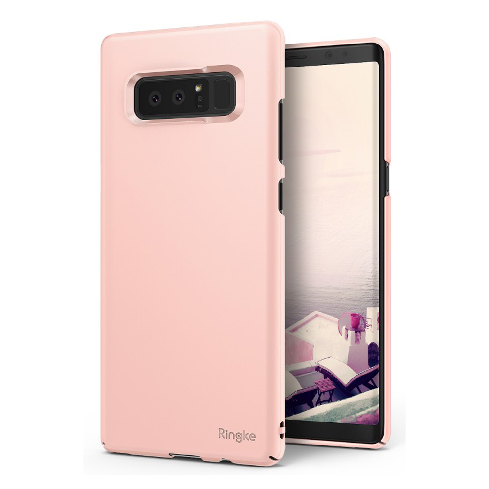 Samsung Galaxy Note 8 Case, Ringke [SLIM] Lightweight Thin Hard PC Protective Cover - Peach Pink