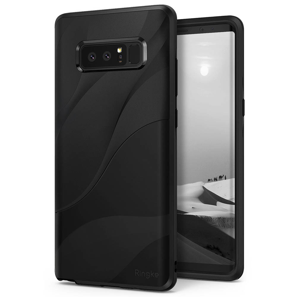 Samsung Galaxy Note 8 Case, Ringke [WAVE] Dual Layer Heavy Duty Shockproof PC TPU Protective Cover - Charcoal Black
