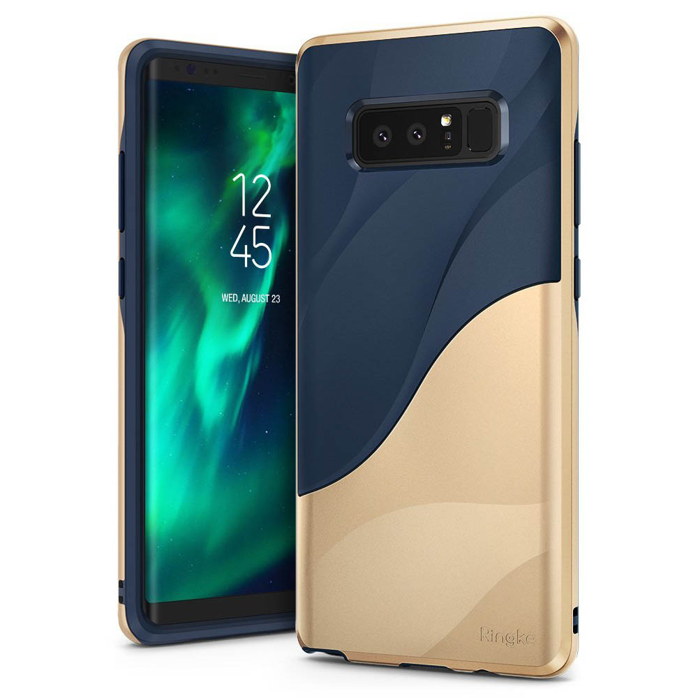 Samsung Galaxy Note 8 Case, Ringke [WAVE] Dual Layer Heavy Duty Shockproof PC TPU Protective Cover - Marina Gold