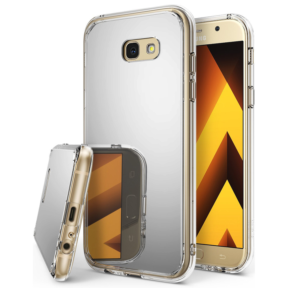 Samsung Galaxy A5 2017 Case, Ringke [FUSION MIRROR] Beauty Reflection Radiant Luxury Mirror Protection Cover - Silver
