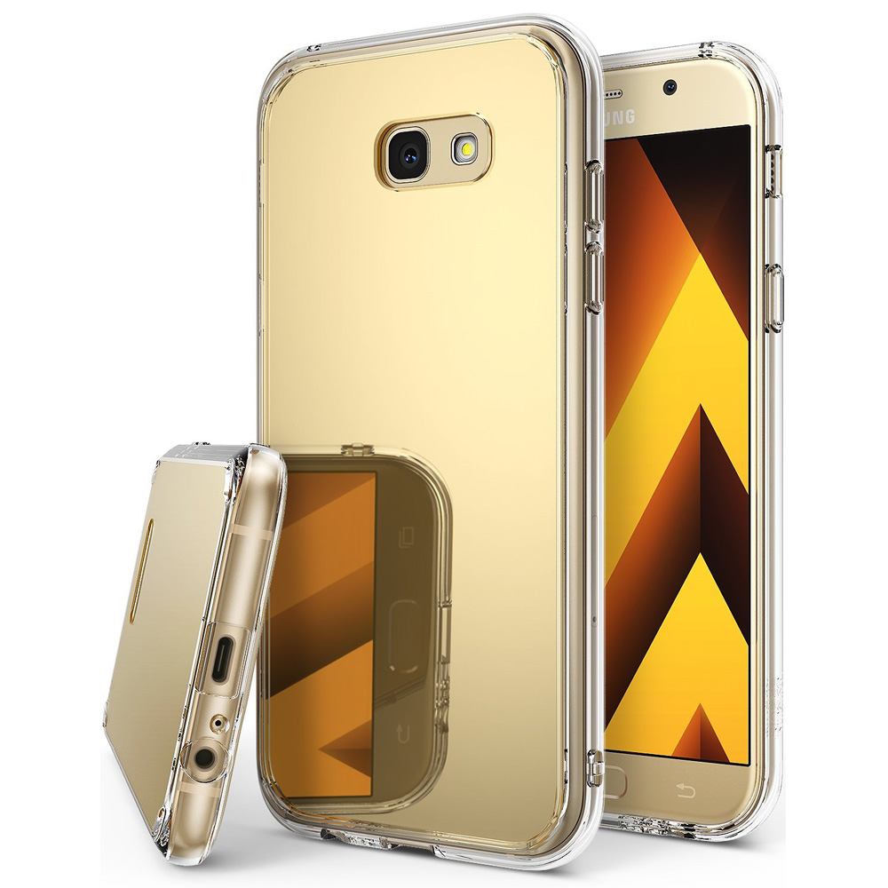 Samsung Galaxy A7 2017 Case, Ringke [FUSION MIRROR] Beauty Reflection Radiant Luxury Mirror Protection Cover - Royal Gold