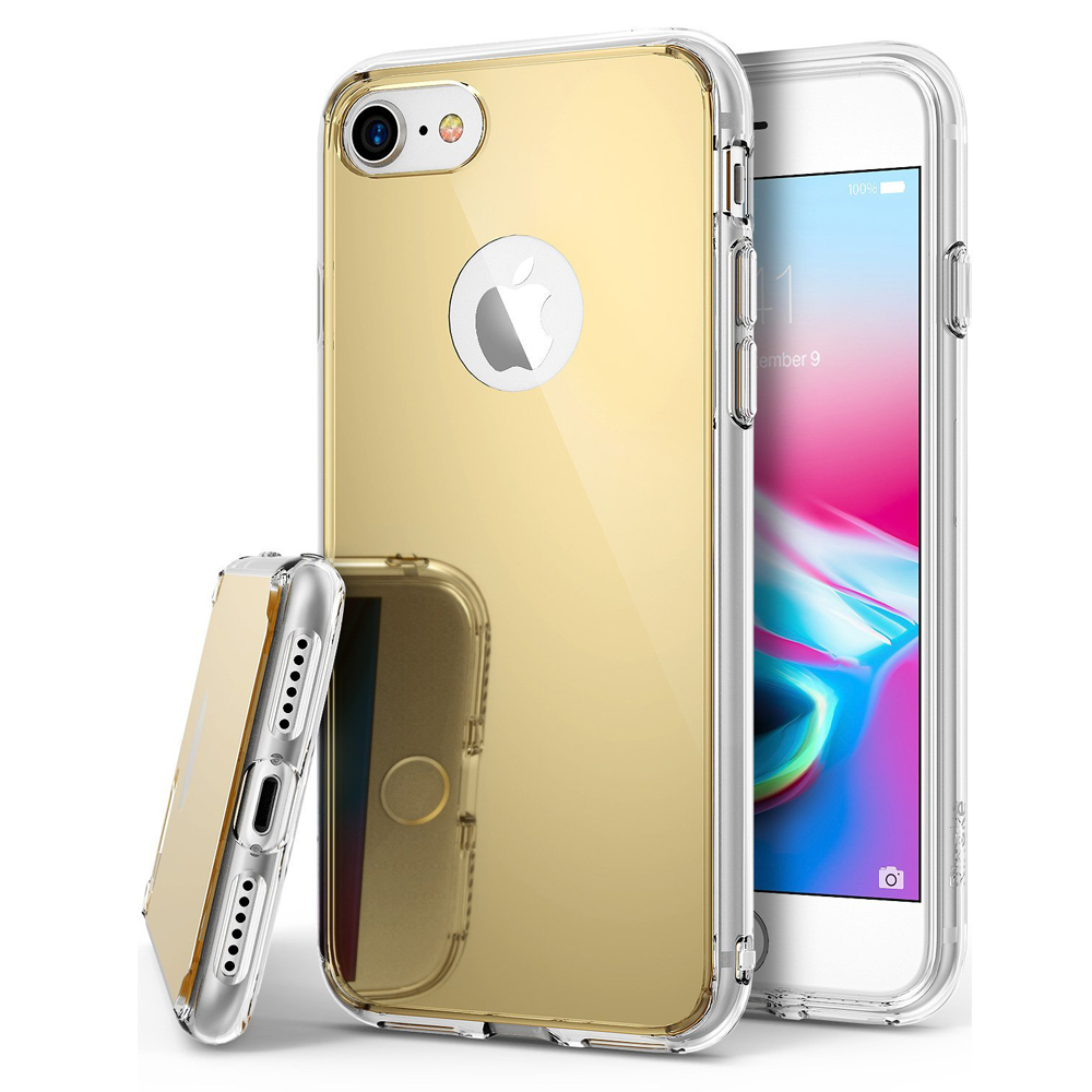 [Ringke] Apple iPhone 8 Plus / 7 Plus / 6S Plus / 6 Plus Case, [FUSION MIRROR] Beauty Reflection Radiant Luxury Mirror Protection Cover [Royal Gold]