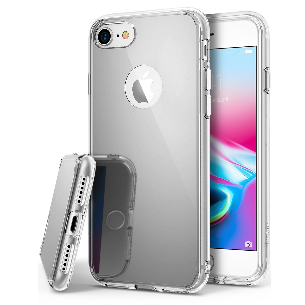 [Ringke] Apple iPhone 8 Plus / 7 Plus / 6S Plus / 6 Plus Case, [FUSION MIRROR] Beauty Reflection Radiant Luxury Mirror Protection Cover [Silver]