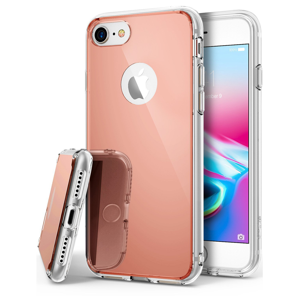 [Ringke] Apple iPhone 8 / 7 / 6S / 6 Case, [FUSION MIRROR] Beauty Reflection Radiant Luxury Mirror Protection Cover [Rose Gold]