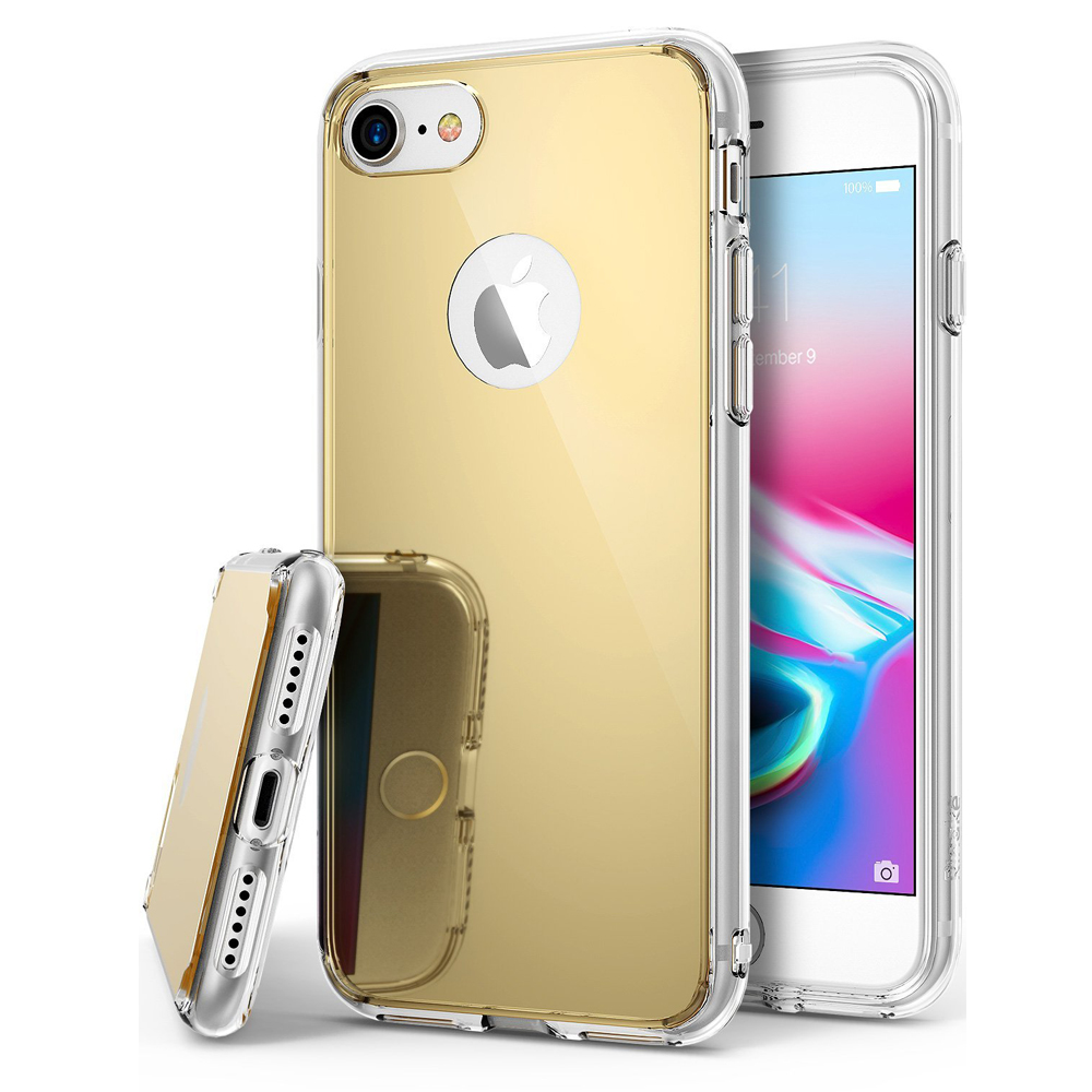 [Ringke] Apple iPhone 8 / 7 / 6S / 6 Case, [FUSION MIRROR] Beauty Reflection Radiant Luxury Mirror Protection Cover [Royal Gold]