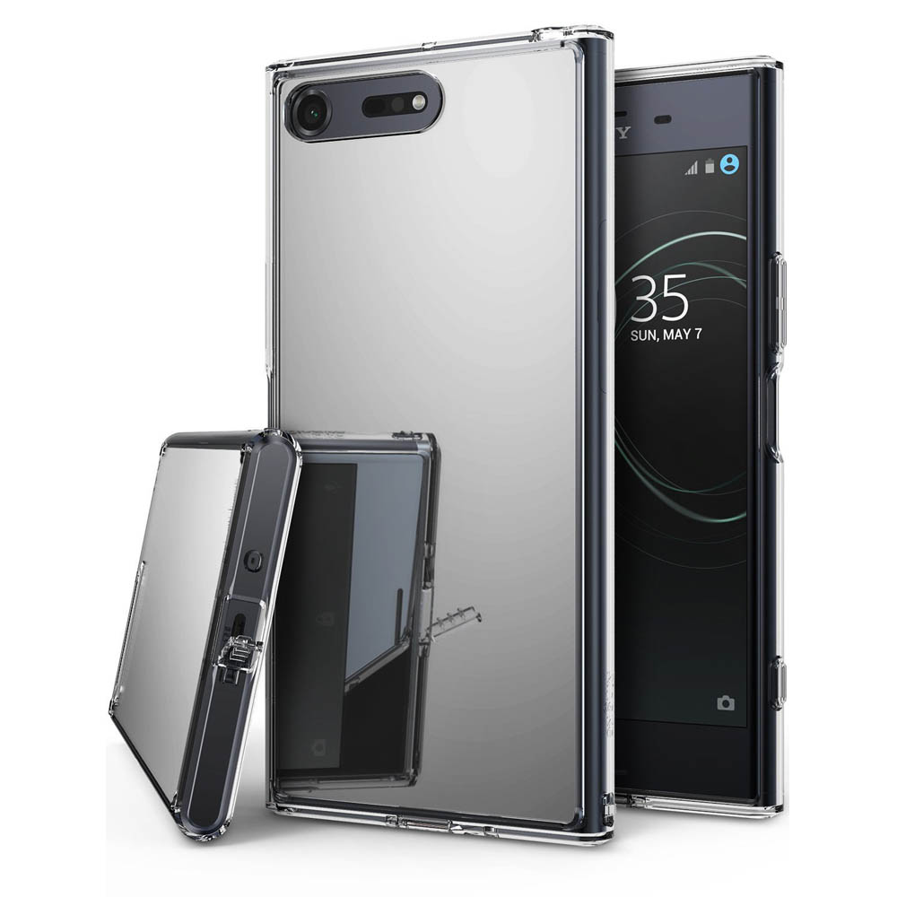 Sony Xperia XZ Premium Case, Ringke [MIRROR] Bright Reflection Radiant Luxury Mirror Protection Cover - Silver
