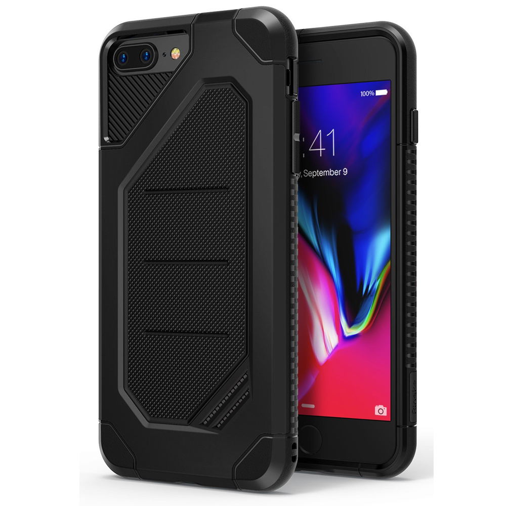 [Ringke] Apple iPhone 8 / 7 Case, [MAX] Advanced Heavy Duty Stylish Armor Shock Absorption Protection Cover [SF Black]