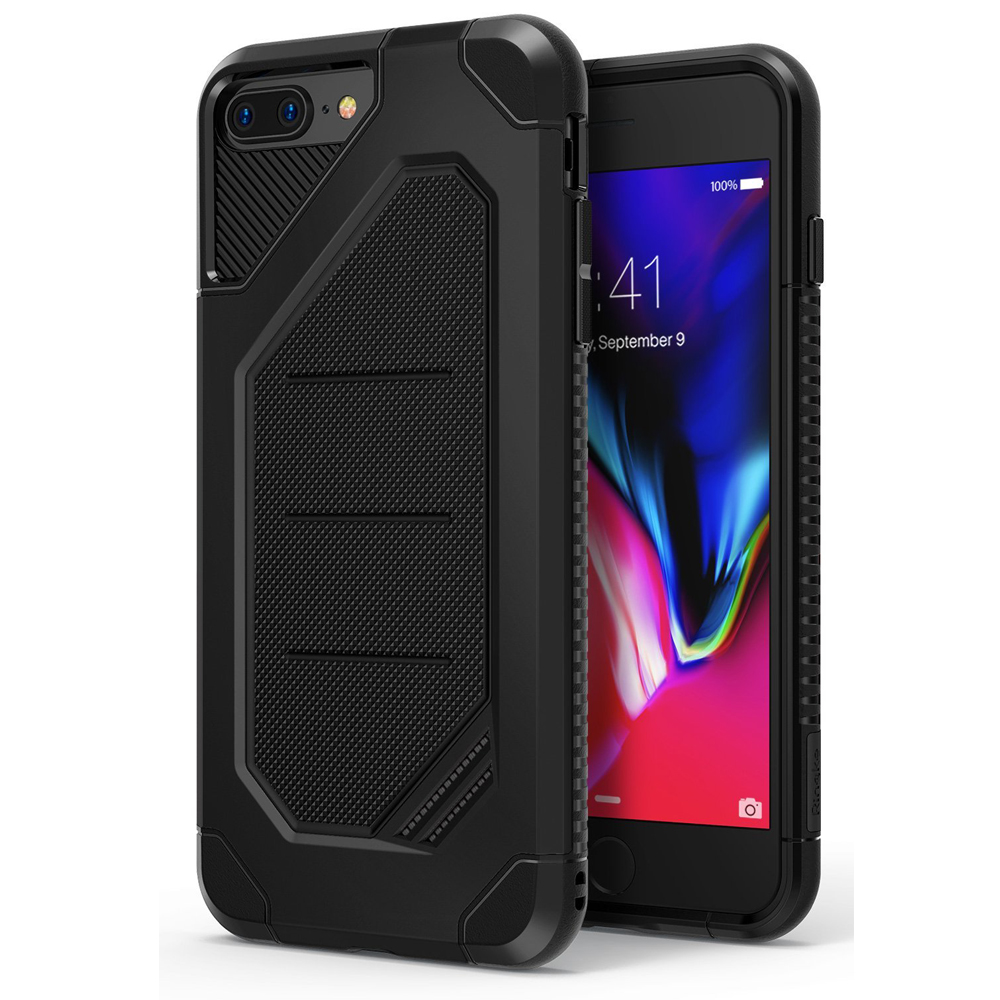 [Ringke] Apple iPhone 8 Plus / 7 Plus Case, [MAX] Advanced Heavy Duty Stylish Armor Shock Absorption Protection Cover [SF Black]
