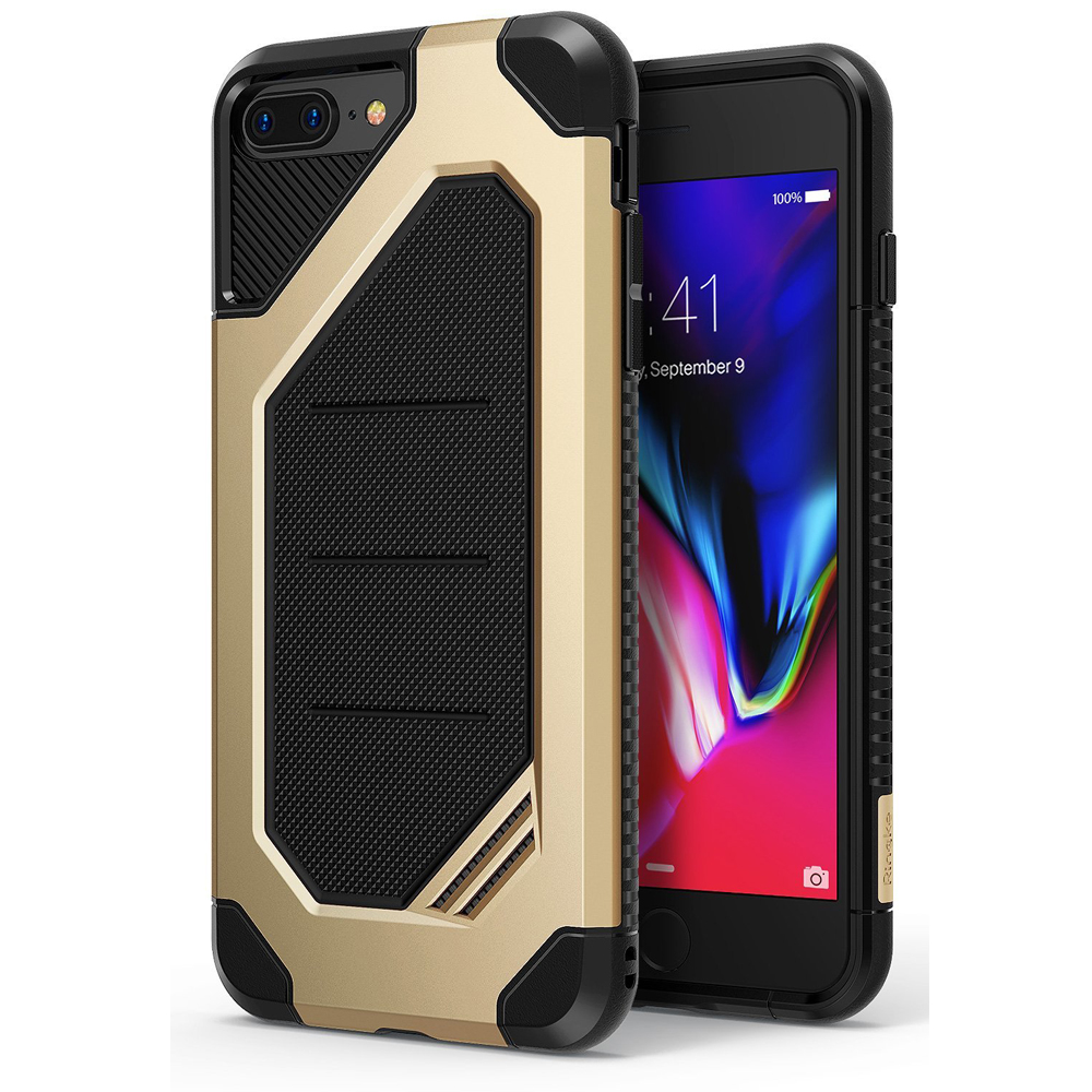 [Ringke] Apple iPhone 8 Plus / 7 Plus Case, [MAX] Advanced Heavy Duty Stylish Armor Shock Absorption Protection Cover [Royal Gold]