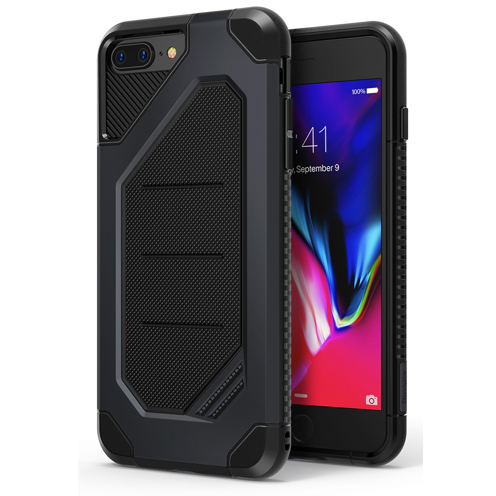 [Ringke] Apple iPhone 8 Plus / 7 Plus Case, [MAX] Advanced Heavy Duty Stylish Armor Shock Absorption Protection Cover [Slate Metal]