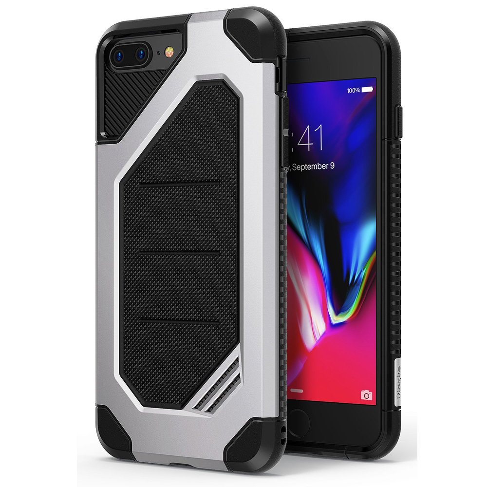 [Ringke] Apple iPhone 8 Plus / 7 Plus Case, [MAX] Advanced Heavy Duty Stylish Armor Shock Absorption Protection Cover [Ice Silver]