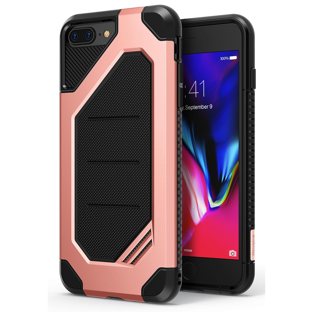 [Ringke] Apple iPhone 8 / 7 Case, [MAX] Advanced Heavy Duty Stylish Armor Shock Absorption Protection Cover [Rose Gold]