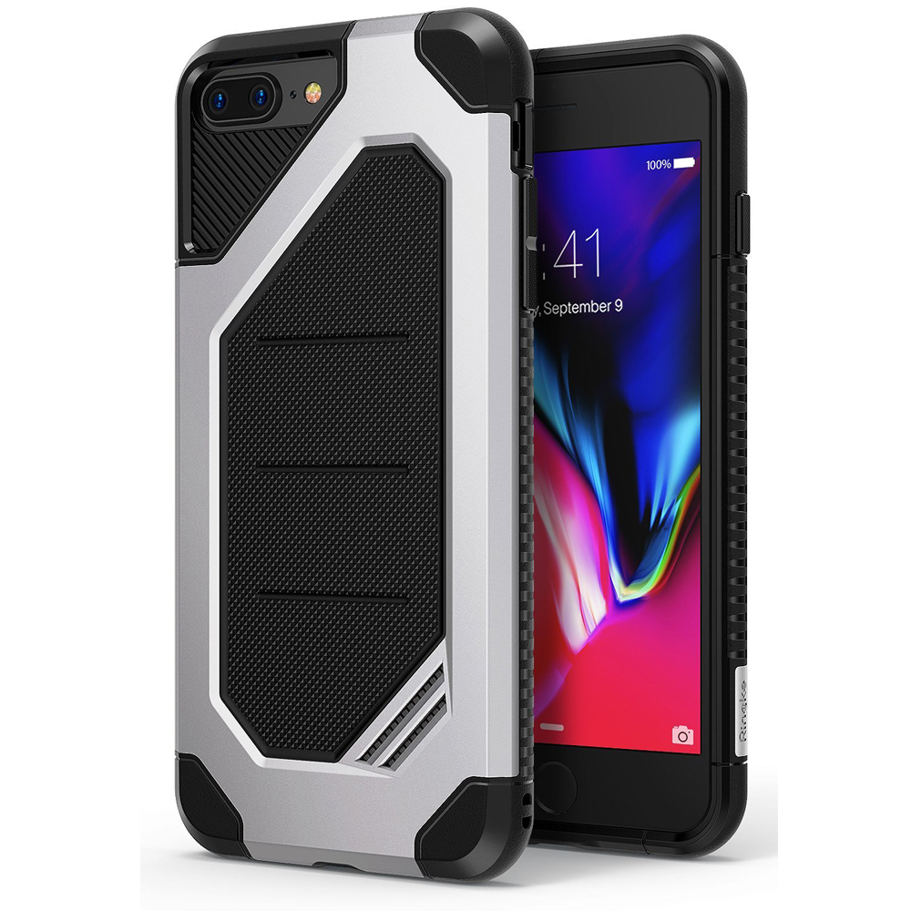 [Ringke] Apple iPhone 8 / 7 Case, [MAX] Advanced Heavy Duty Stylish Armor Shock Absorption Protection Cover [Ice Silver]