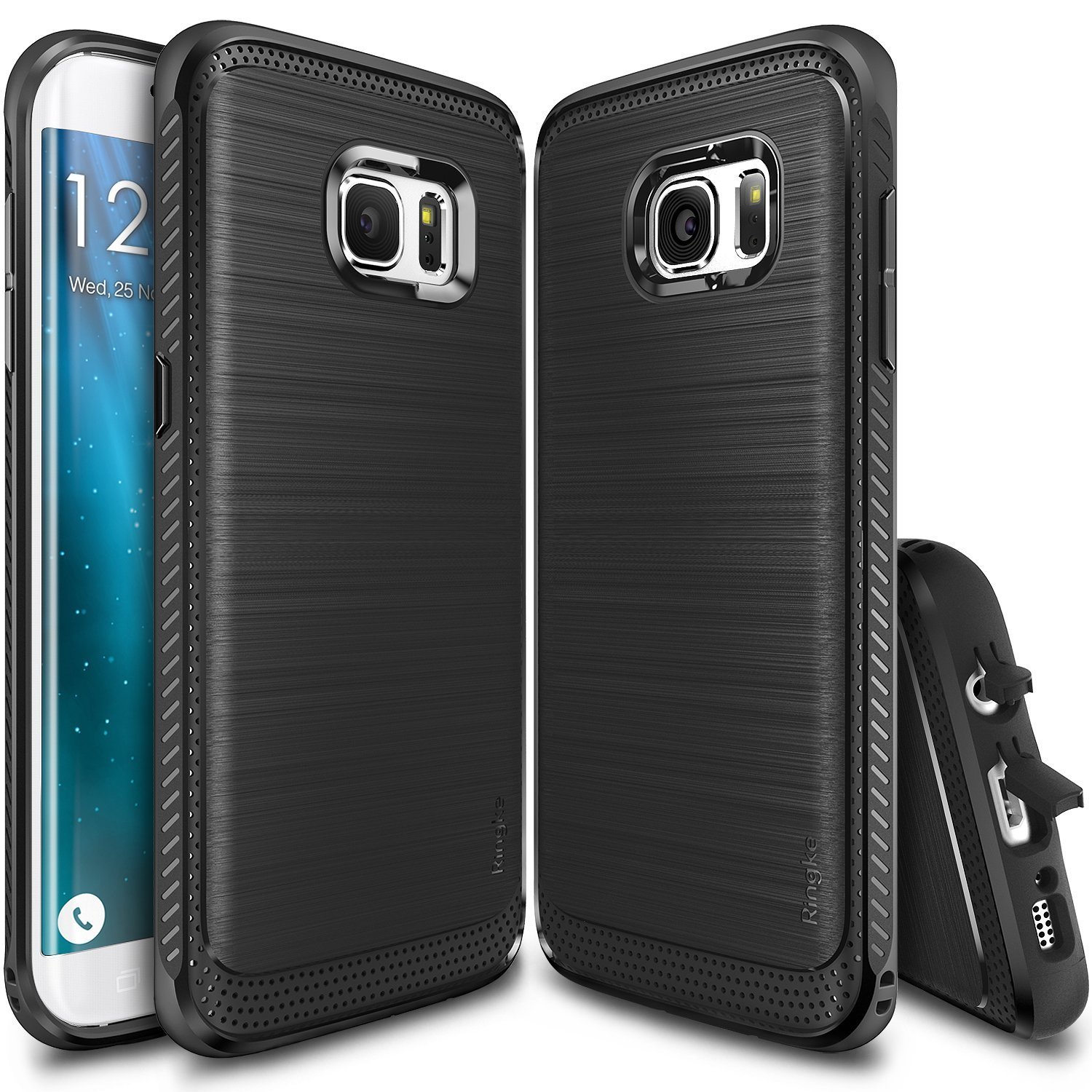Samsung Galaxy S7 Edge Case, Ringke [Black] ONYX Series Improved Strength Flexible TPU Defensive Case