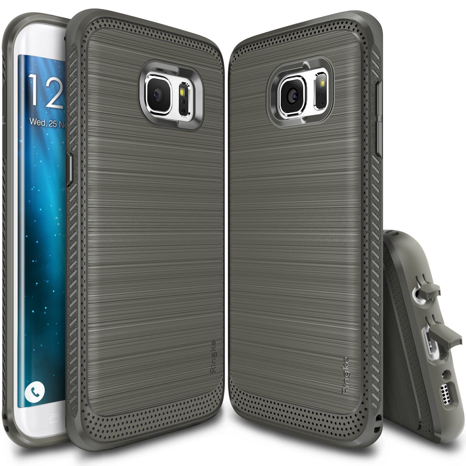 Galaxy S7 Edge Case, Ringke ONYX [Mist Gray] Improved Strength Flexible TPU Defensive Case for Samsung Galaxy S7 Edge