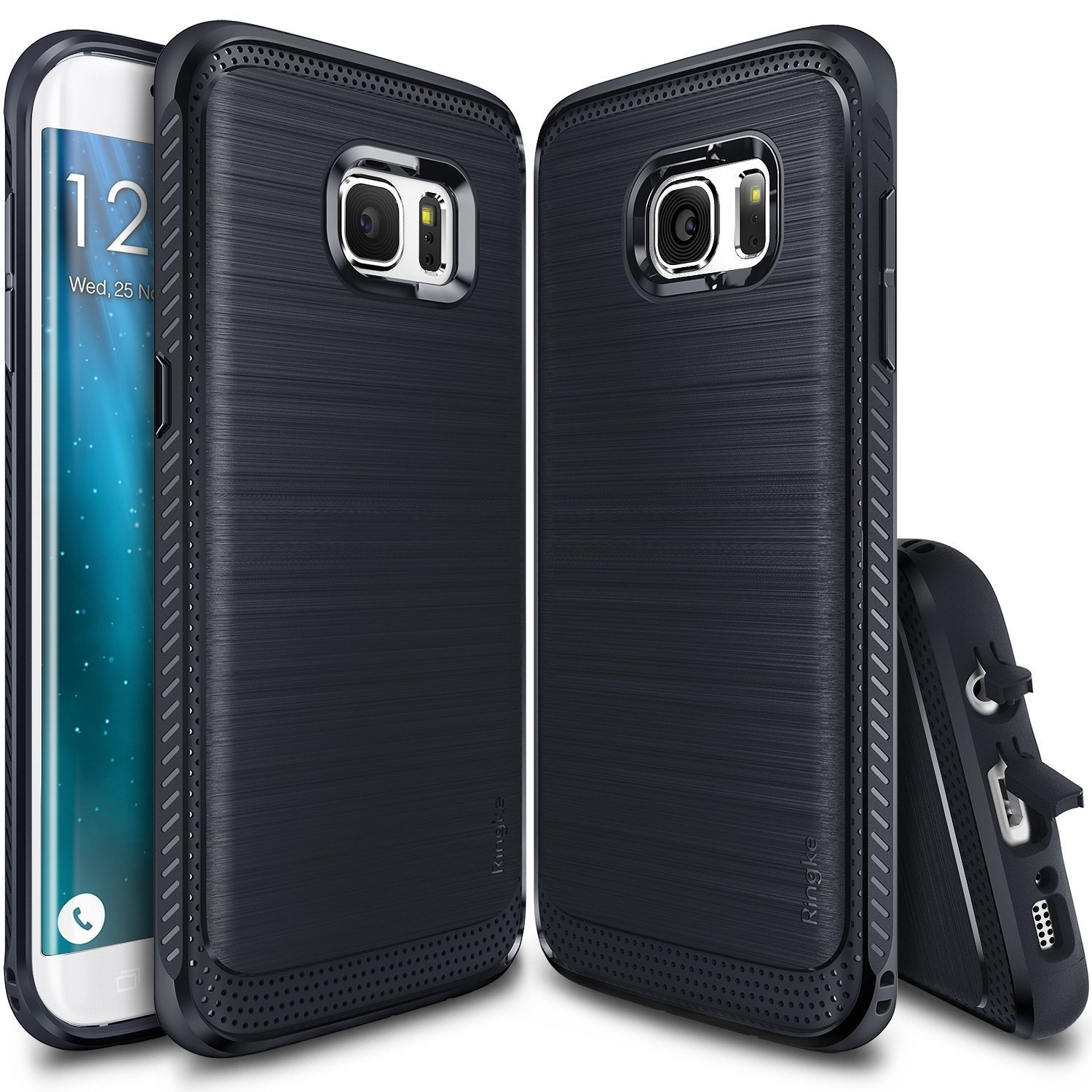 Samsung Galaxy S7 Edge Case, Ringke [Midnight Navy] ONYX Series Improved Strength Flexible TPU Defensive Case