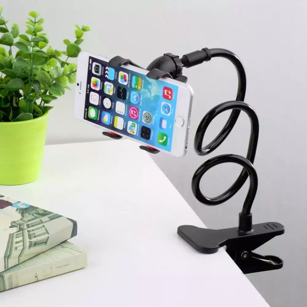 [Black] RedShield Lazy Bracket Flexible Holder Mount [Be lazy in bed or sofa while on your phone, no more phones falling onto face!]