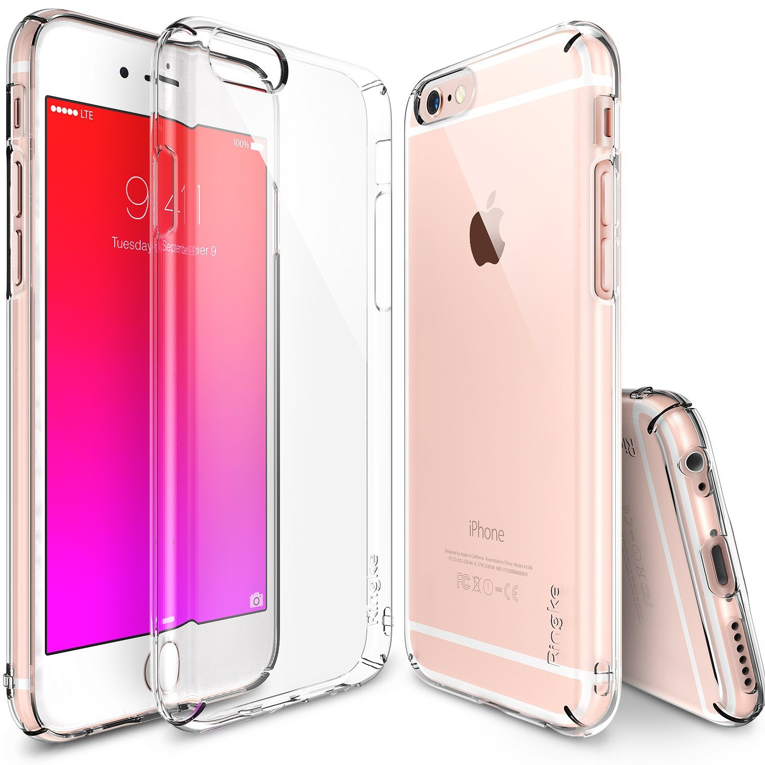 Apple iPhone 6S Case, Ringke [Clear] SLIM Series Slim & Protective Crystal Glossy Snap-on Hard Polycarbonate Plastic Case Cover