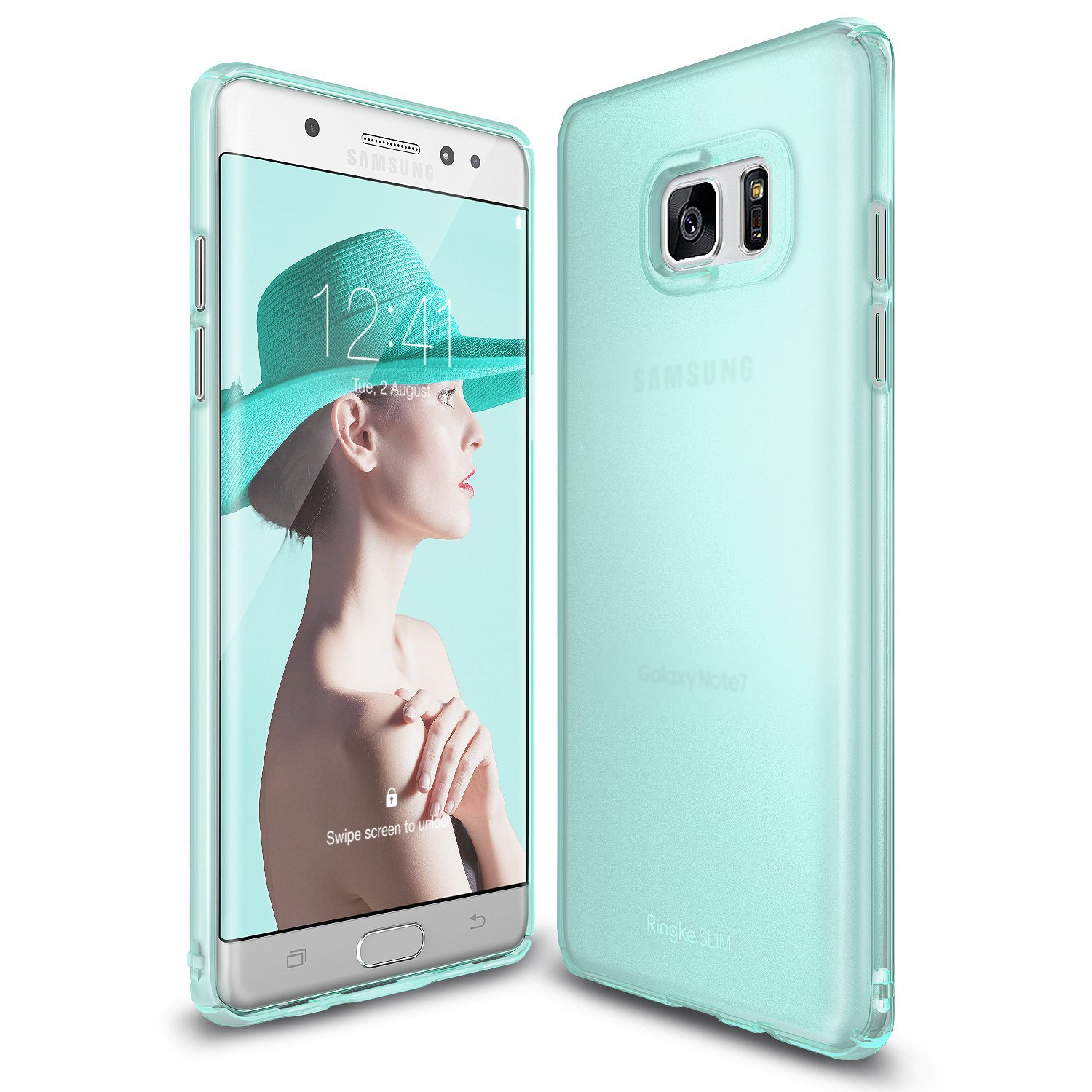Samsung Galaxy Note 7  Case, Ringke [Frost Mint] SLIM Snug-Fit Slender [Tailored Cutouts] Ultra-Thin Fluid Curved Edge Enhance Protective Case Superior Coating PC Hard Skin Cover