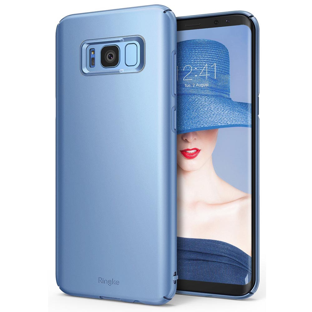 Samsung Galaxy S8 Slim Case, Ringke [SLIM Series] Dazzling Slender [Laser Precision Cutouts] Fashionable & Classy Superior Steadfast Bolstered PC Hard Skin cover for Samsung Galaxy S8 - Blue Pearl