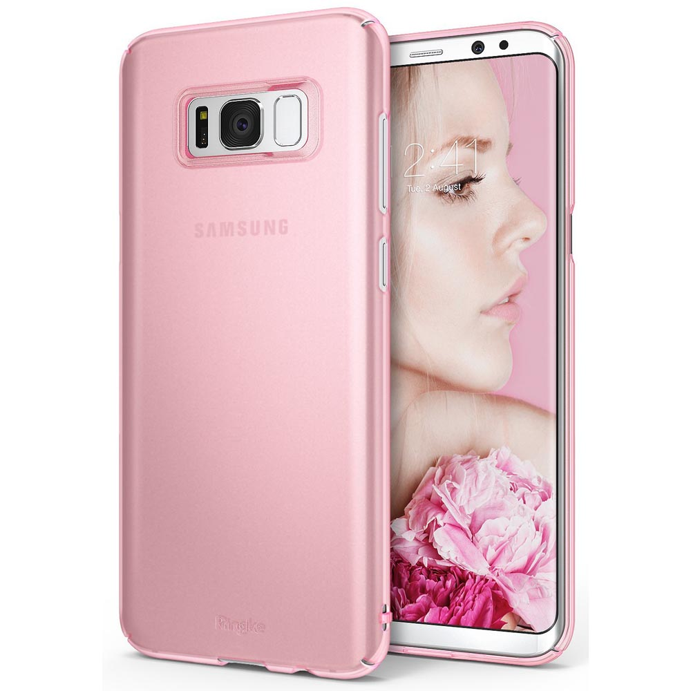 Samsung Galaxy Slim Case, Ringke [SLIM Series] Dazzling Slender [Laser Precision Cutouts] Fashionable & Classy Superior Steadfast Bolstered PC Hard Skin cover - Frost Pink